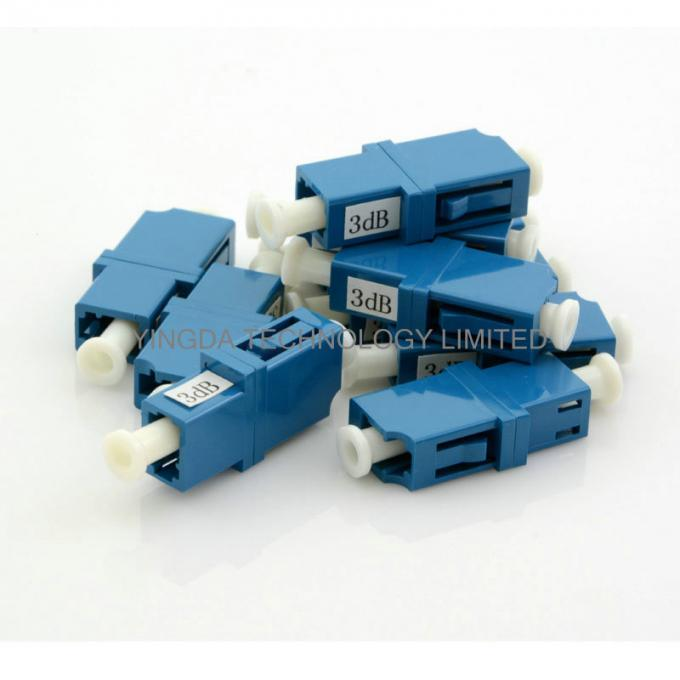 Metal Fixed LC PC 3dB Singlemode Fiber Optic Attenuator Light Weight