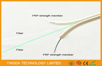 Çin Single Mode FTTH Drop Cable , FRP Non - Metallic Strength 2 Core Fiber Optic Cable Fabrika