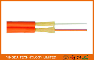 Zipcord Duplex FTTH Drop Cable , Patch Cord SM / MM 1.6mm 2mm 3mm Yellow Orange