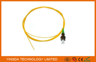 Çin Pigtail OS1 FC APC Simplex SM 0.9mm 3Meter Fiber Optic Cable Yellow Fabrika