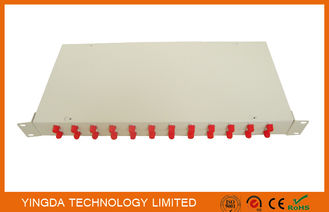 Çin Optical Fiber Rack Mounted ODF Patch Panel 19 Inch 24 Ports Cold Rolled Steel 1.0mm Tedarikçi