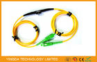 Adjustable SC FC LC MU Fixed In - line Fiber Optic Attenuator SM 1Meter Range 1 ~ 40dB
