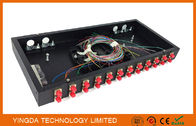 Pre-assembly 24 Port 24 Fibers FC ODF Patch Panel 1U Rack Cabinet Enclosure Tedarikçi