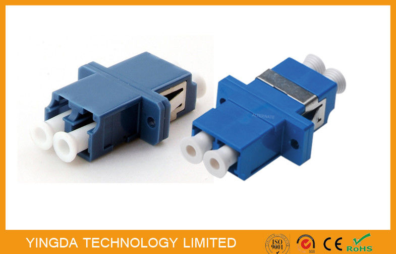 PBT Fiber Optic Adapter LC Duplex SC Footprint Type Blue Single Mode High Density Tedarikçi