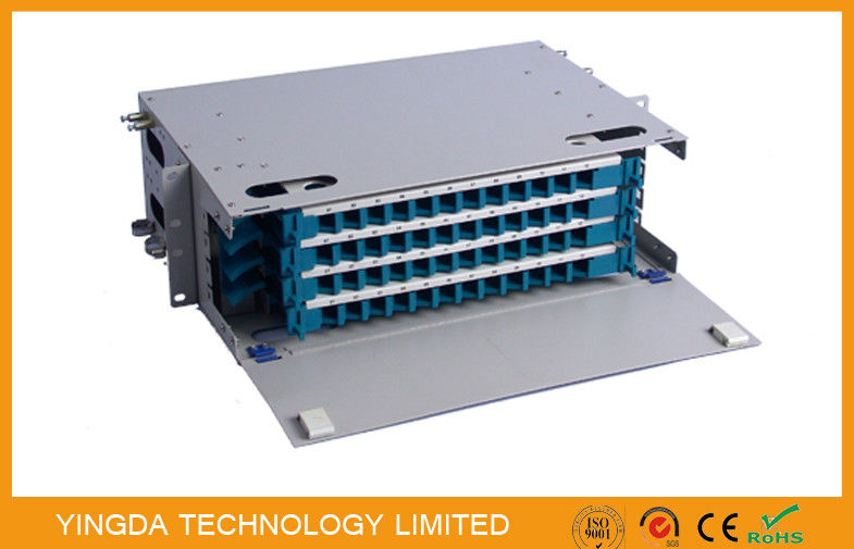 48 Cores Fiber Optic Patch Panel Cabinet Welding Tray 4 x 12F Rack Mounting Tedarikçi