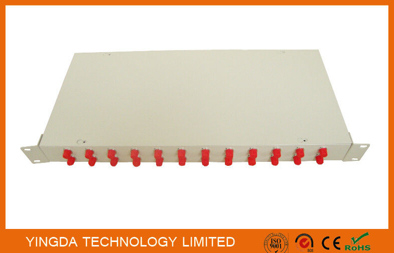 Optical Fiber Rack Mounted ODF Patch Panel 19 Inch 24 Ports Cold Rolled Steel 1.0mm Tedarikçi