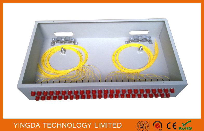 "2U Rack Patch Panel Metal FC ST , 48 Ports Fiber Optic Patch Panel 19"" ODF Fully Load Tedarikçi"